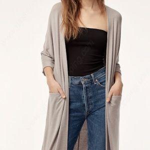 Aritzia Zlata (long) sweater cardigan - ashen grey